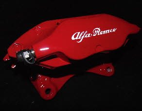 Ruby Red Alfa Romeo caliper with black decals