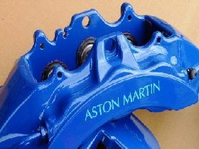 Aston Martin calipers after refurbishment