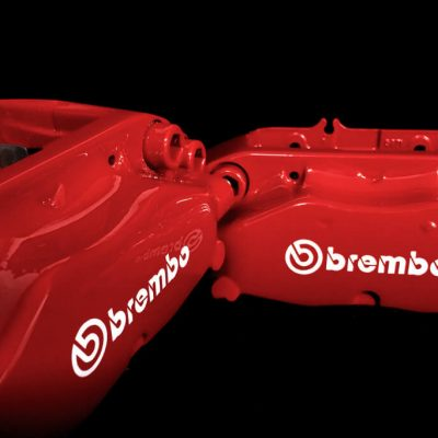 Brembo Red calipers white brembo decals