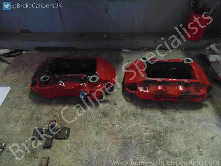 red renault megane calipers before paint