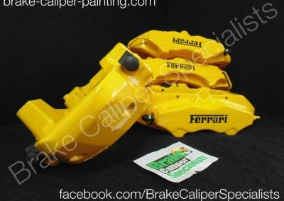 Ferrari brembo calipers in yellow