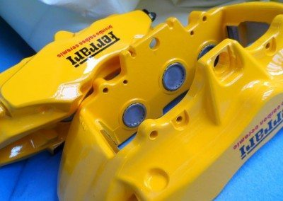 Ferrari brembo carbon ceramic calipers painted yellow