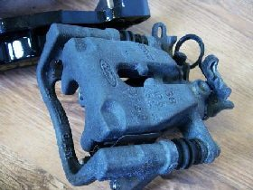Ford Focus rear needing brake caliper refurbishment