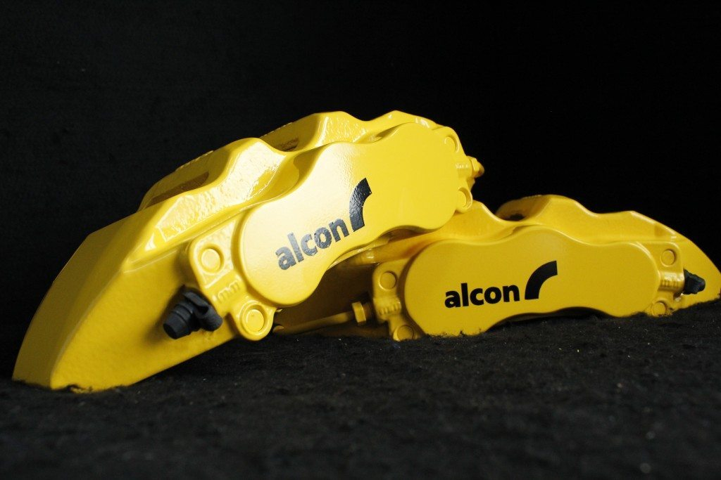 Alcon in our Mountune yellow brake caliper paint