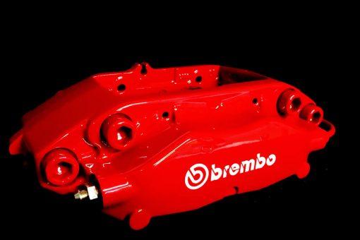 red brembo caliper