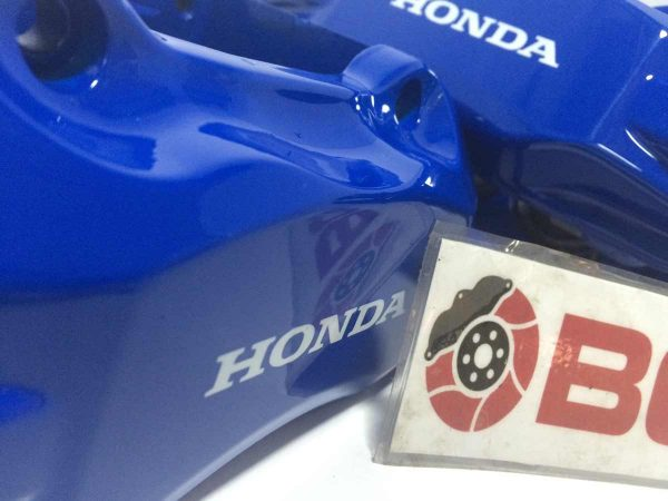 Royal Blue Honda brake caliper