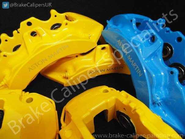 yellow brake caliper paint on calipers