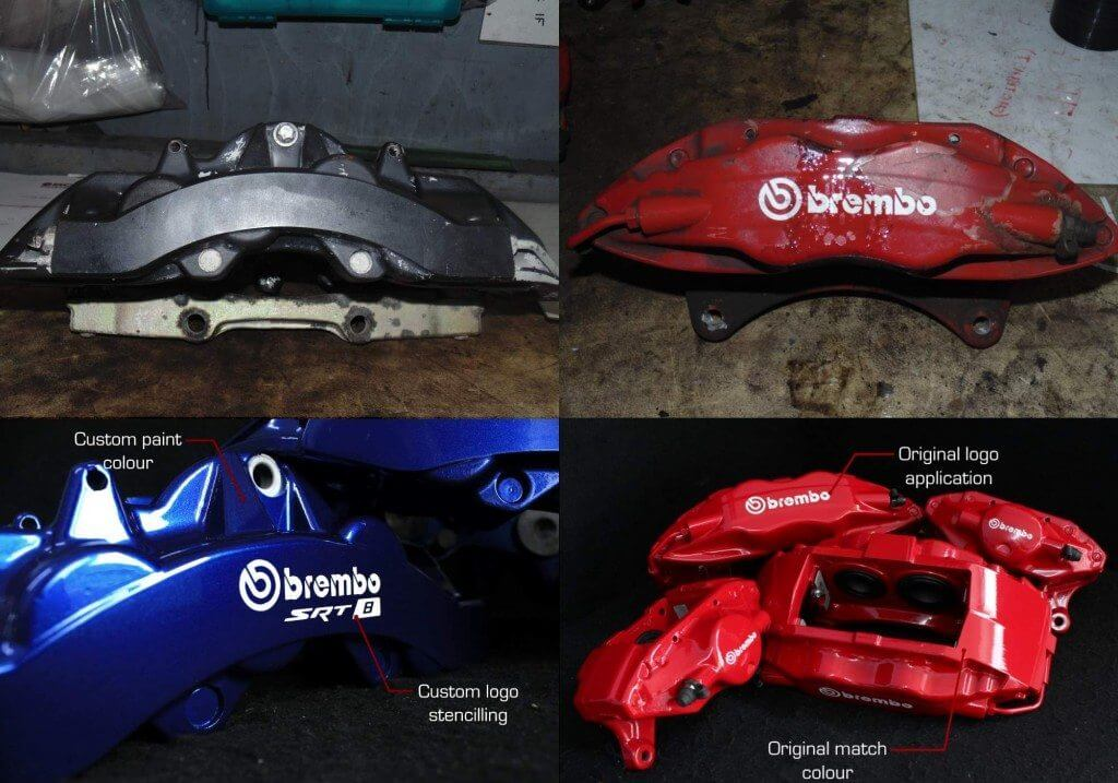 Brembo Calipers Before and After