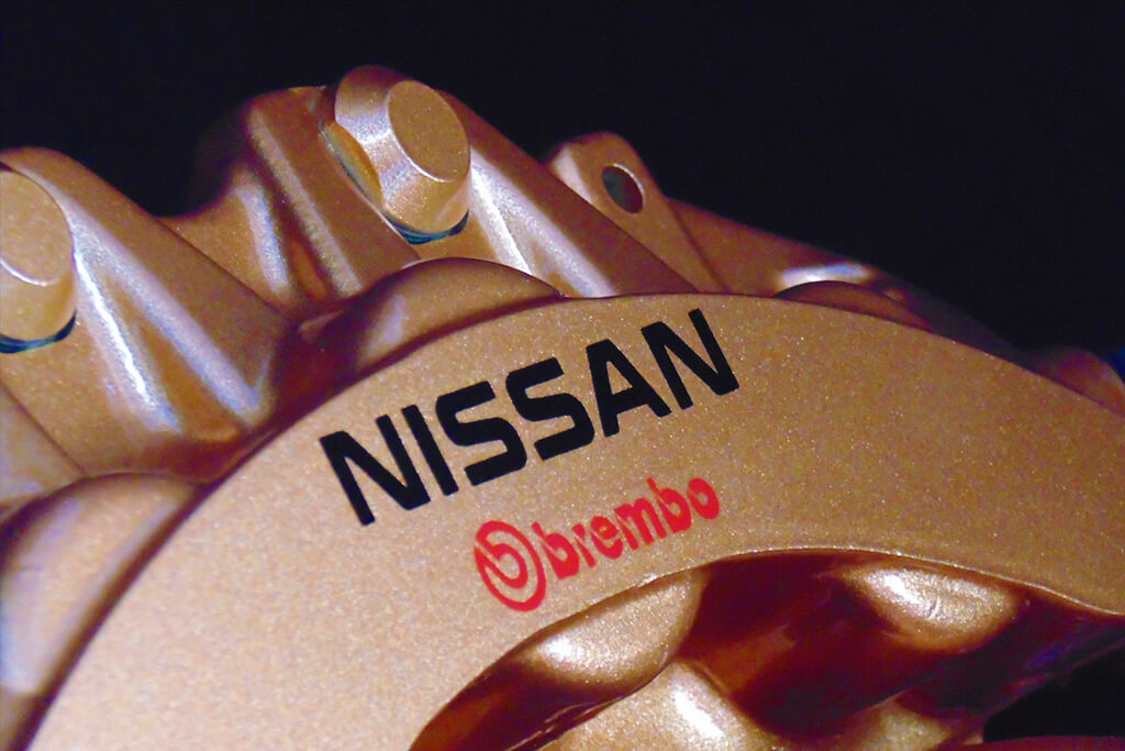 Nissan GTR Brembo Gold brake calipers