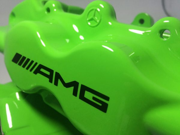 Black AMG brake caliper decals