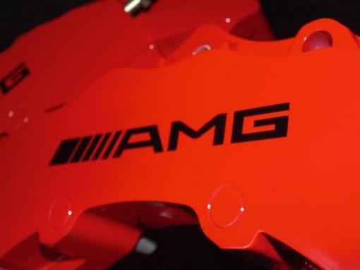 AMG brake caliper decals in black
