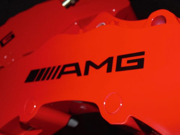 AMG brake caliper decals in black