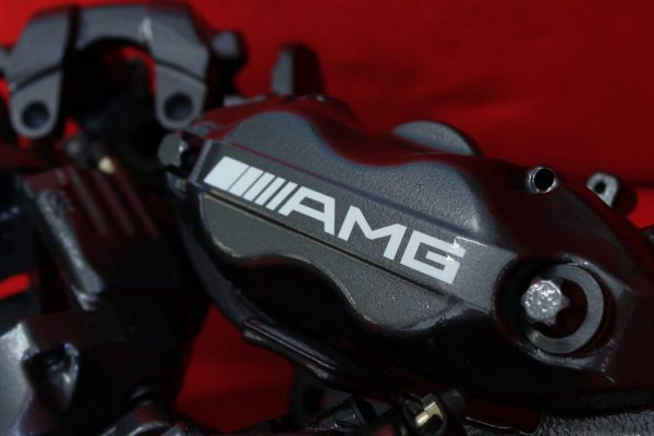 white AMG brake caliper decals 2