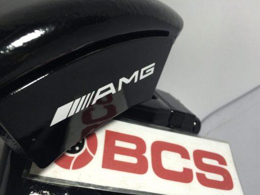 white AMG brake caliper decals