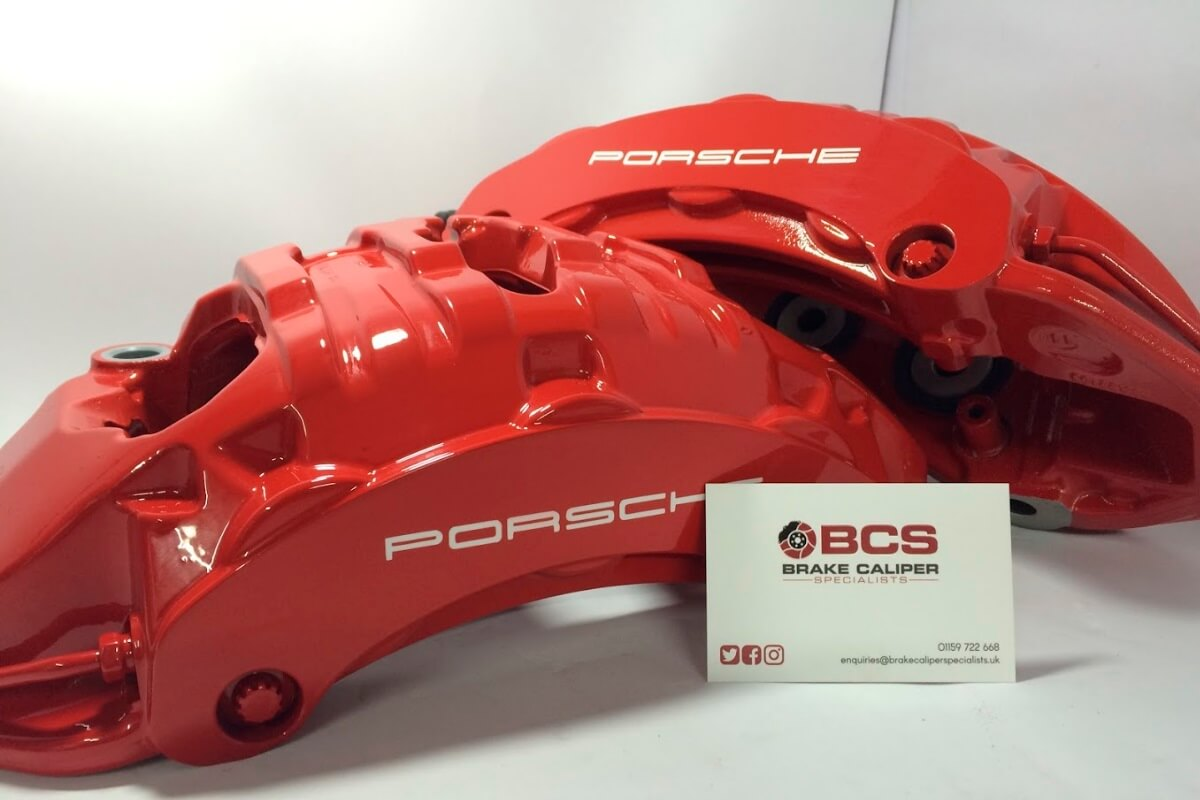 Porsche 930 brake calipers after refurb