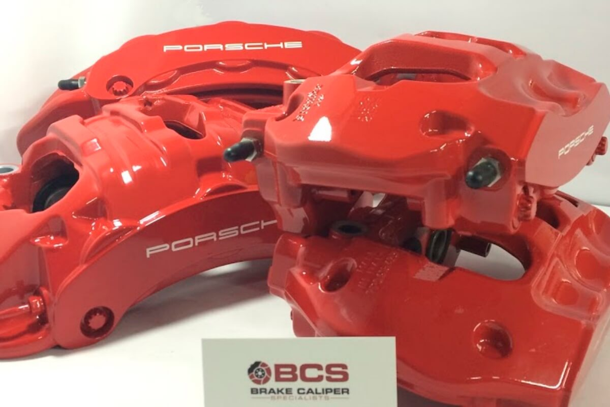 Porsche 930 brake calipers after refurb 2