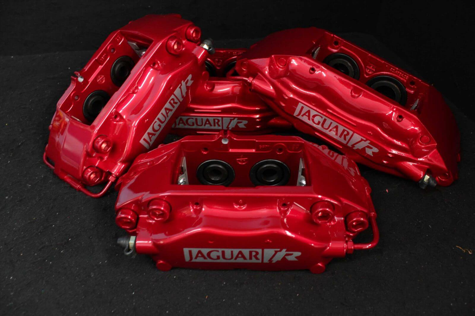 Jaguar XKR red brake calipers red