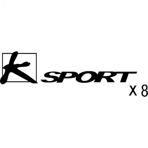 K-Sport X8 brake caliper decal