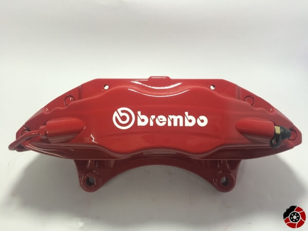 big red brembo caliper refurbished