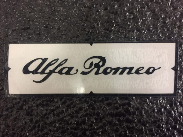 Alfa Romeo black brake caliper decal