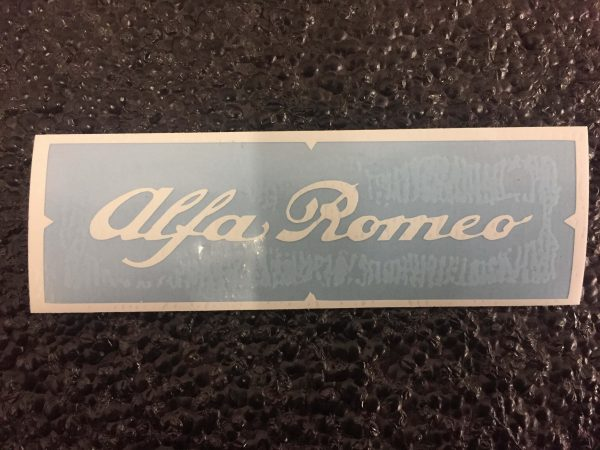 Alfa Romeo white brake caliper decal