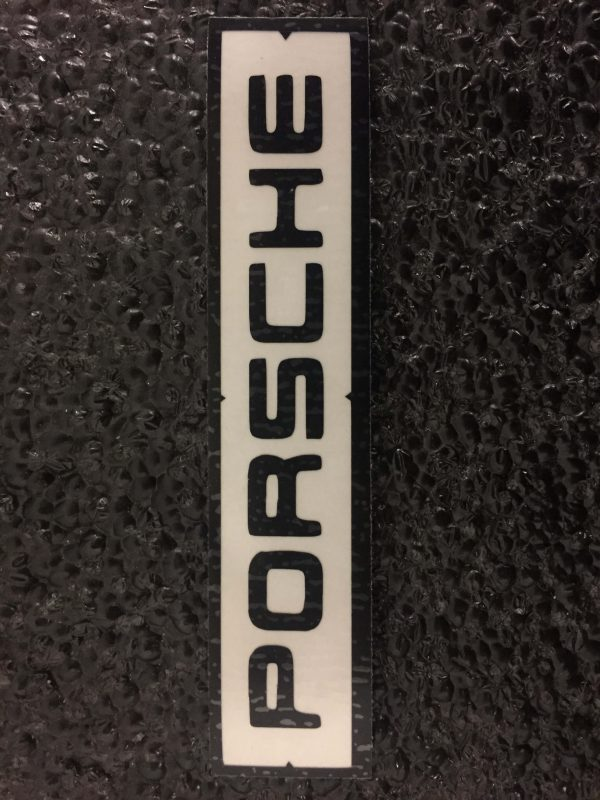 Old Porsche logo black brake caliper decal