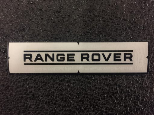 Range Rover straight black decal