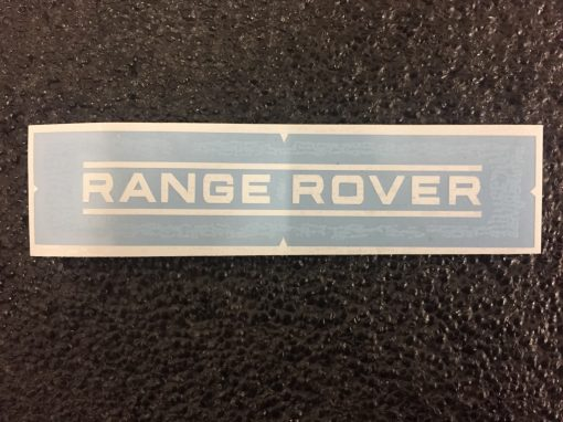 Range Rover straight white decal