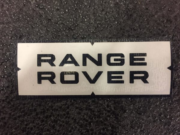 Range Rover top and bottom black decal
