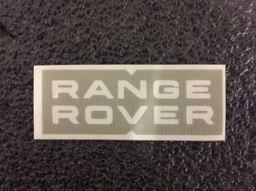 Range Rover top and bottom stencil