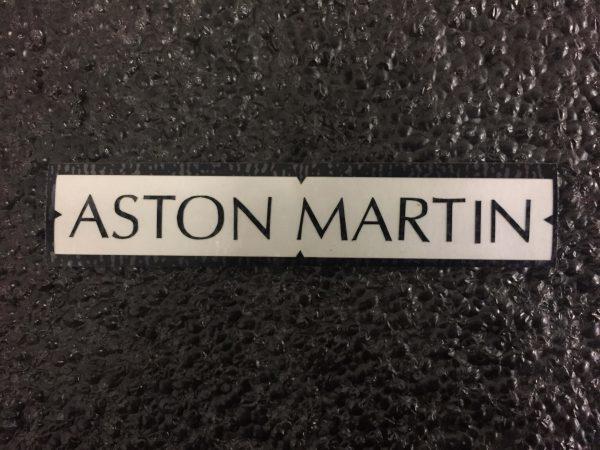 Aston Martin black brake caliper decal