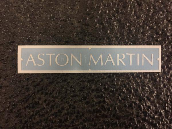 Aston Martin white brake caliper decal