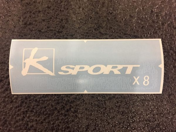 K-Sport X8 white brake caliper decal