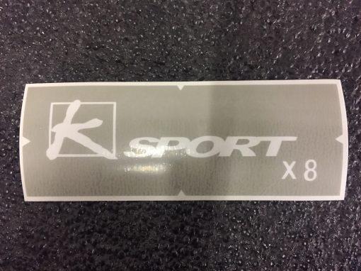 K-Sport X8 brake caliper stencil