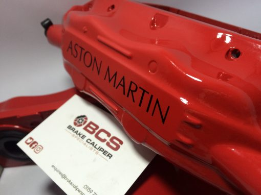 Red Aston Martin brake caliper black decals