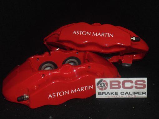 Red Aston Martin brake caliper white decals