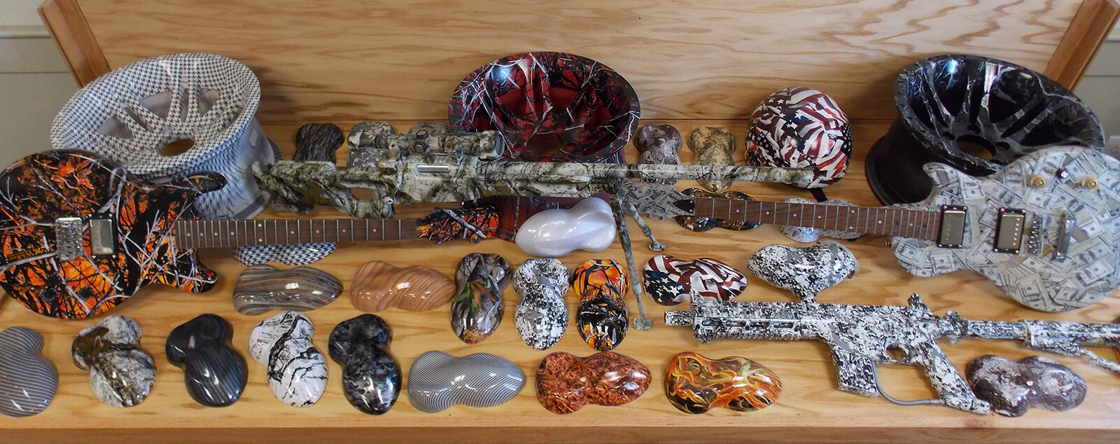Examples of hydrographics from a Nottingham company