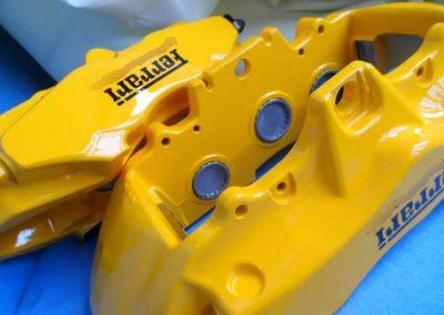 Ferrari brembo carbon ceramic calipers painted yellow